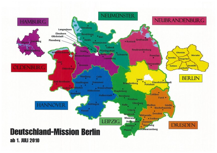 Map of Germany Berlin Mission