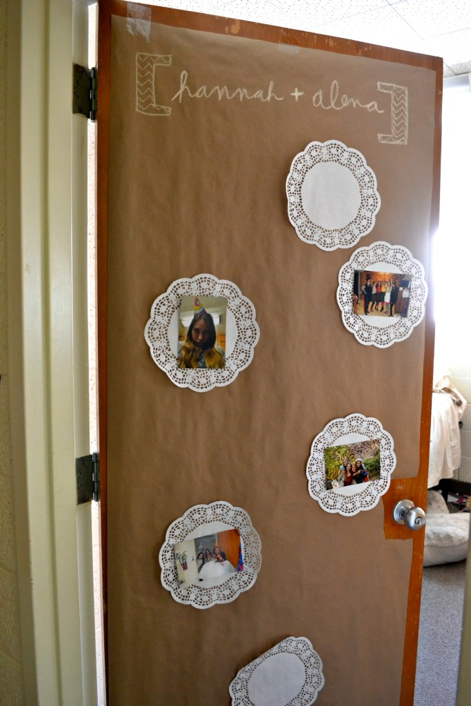 I made these for all of my roommate's doors. I got everything at the Dollar Tree. Super easy, give it a try!