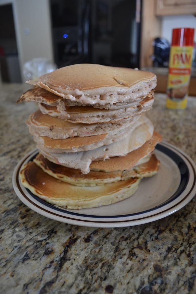 Cake batter pancakes.