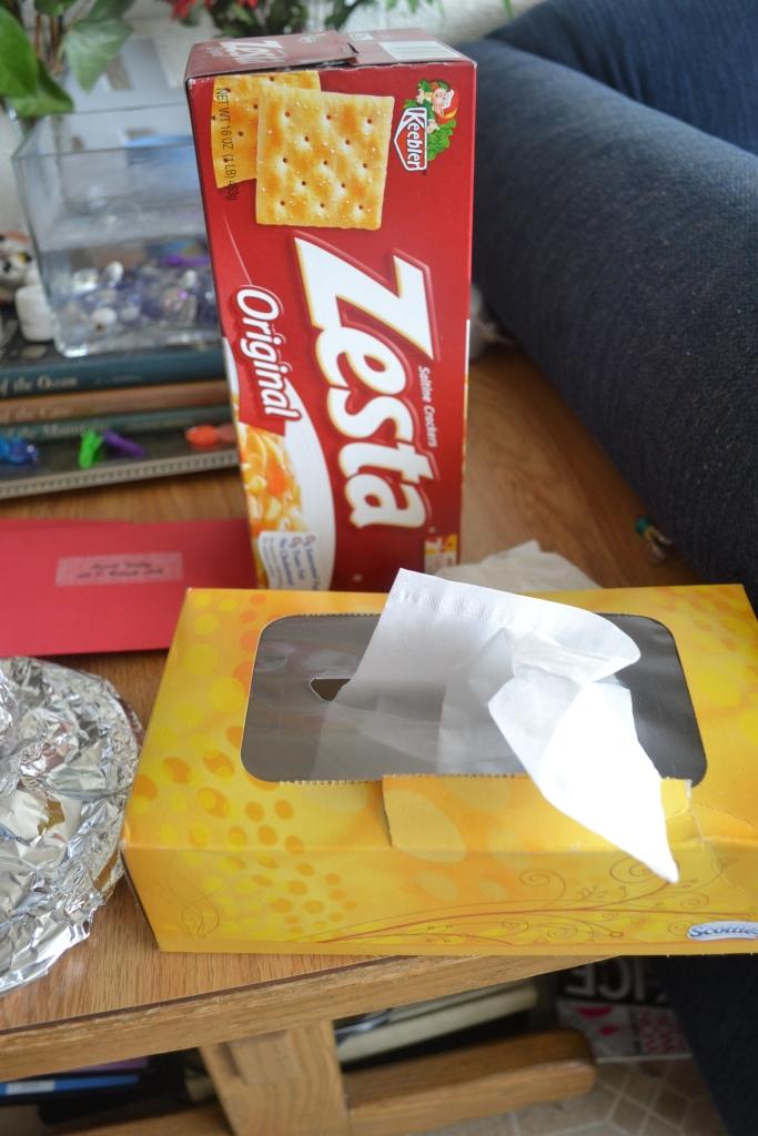 The last tissue box. NOOOOOOO!
