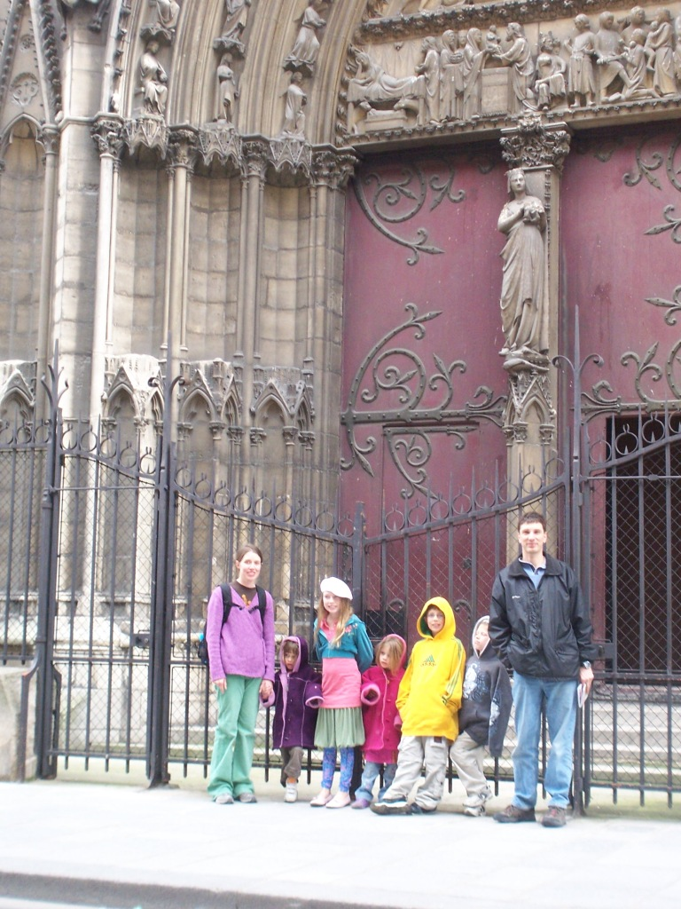 This also is not Germany. It is the Notre Dame in Paris. I had to put it on because my outfit is horrendous. I went through a very... creative stage.