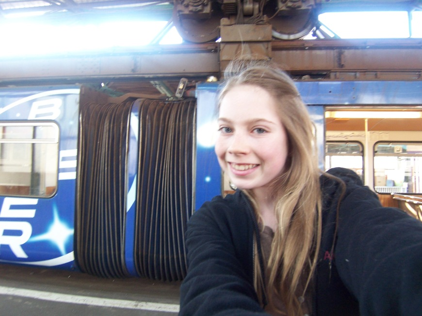 In front of the Schwebebahn, or the floating train
