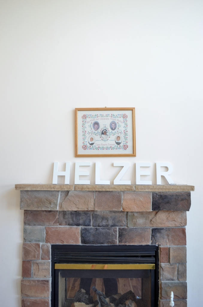 cotton on wood letters