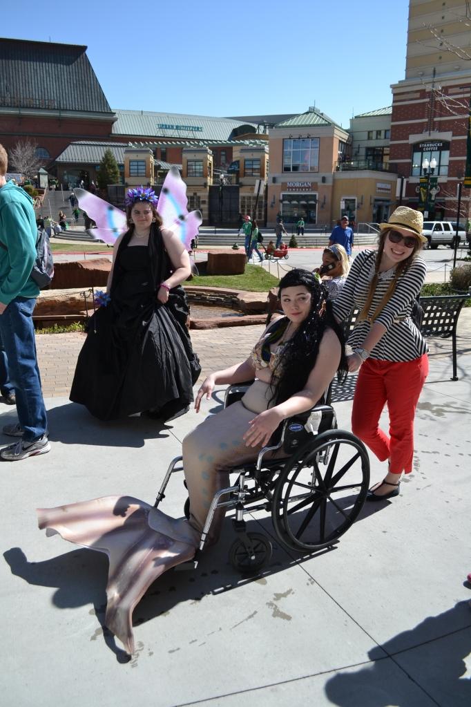 Mermaids, fairies, wheelchairs OH MY