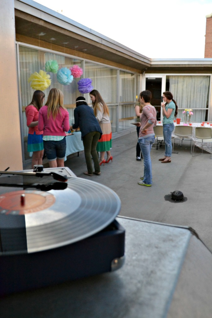 record player bridal shower