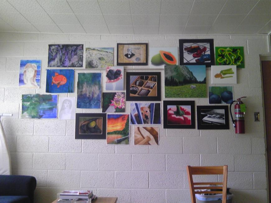 Back when we had an art wall