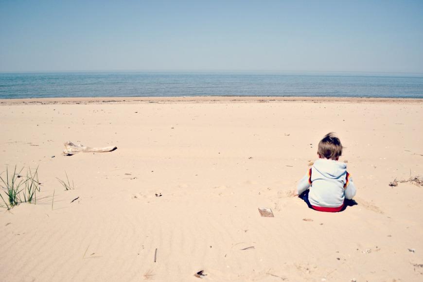 Michigan Day One Beach 004
