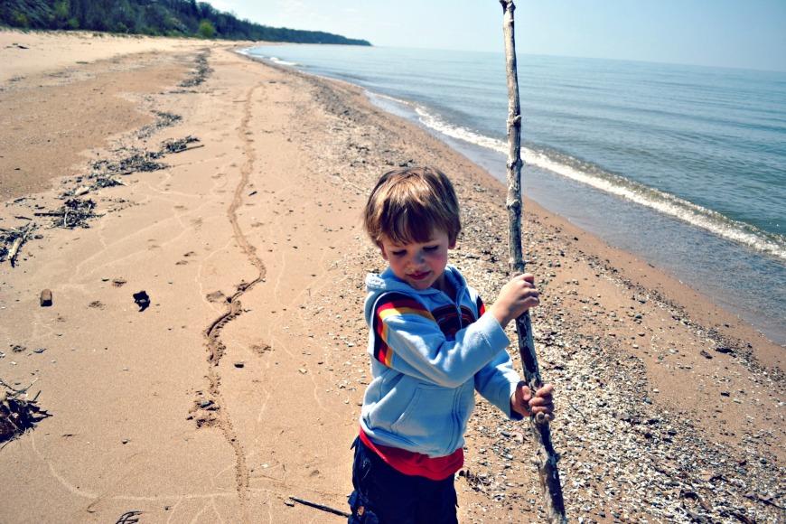 Michigan Day One Beach 048