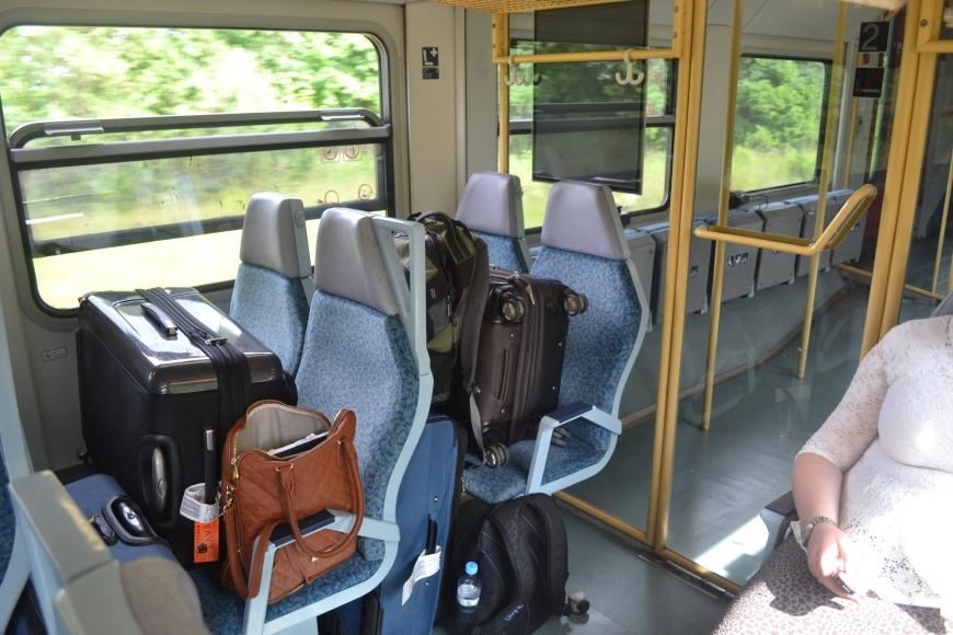 takin the train from berlin to dresden
