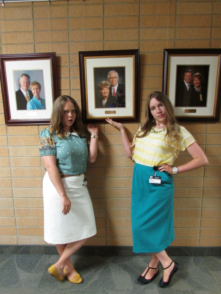 our roommate, sister motto's grandparents were president of the MTC so we had to take a photo