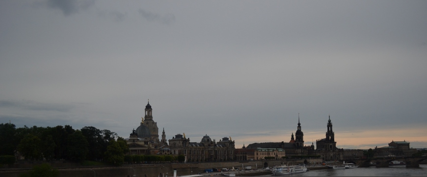 view from the dresden bridge