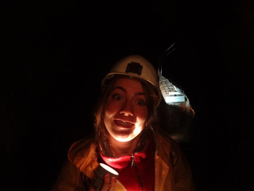 we toured a mine. spooky scary.