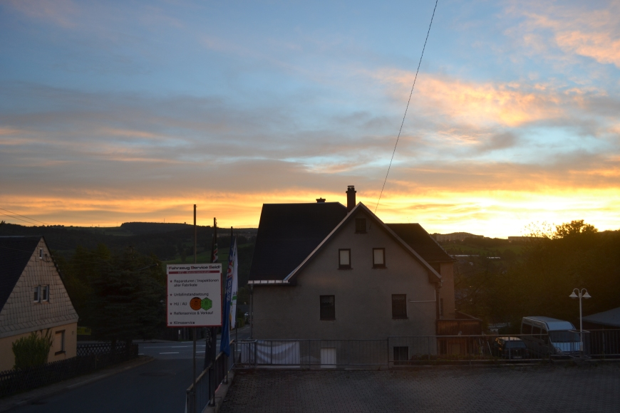 the sunrise from our apartment