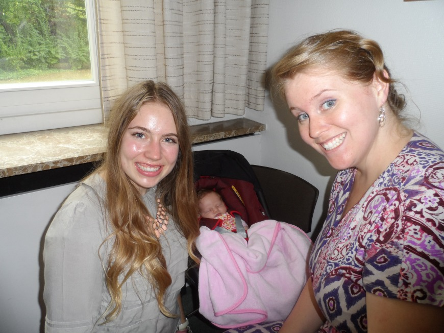Rachel and Baby Lydia. She's a singer for the Dresden Opera and also served a mission in Germany.