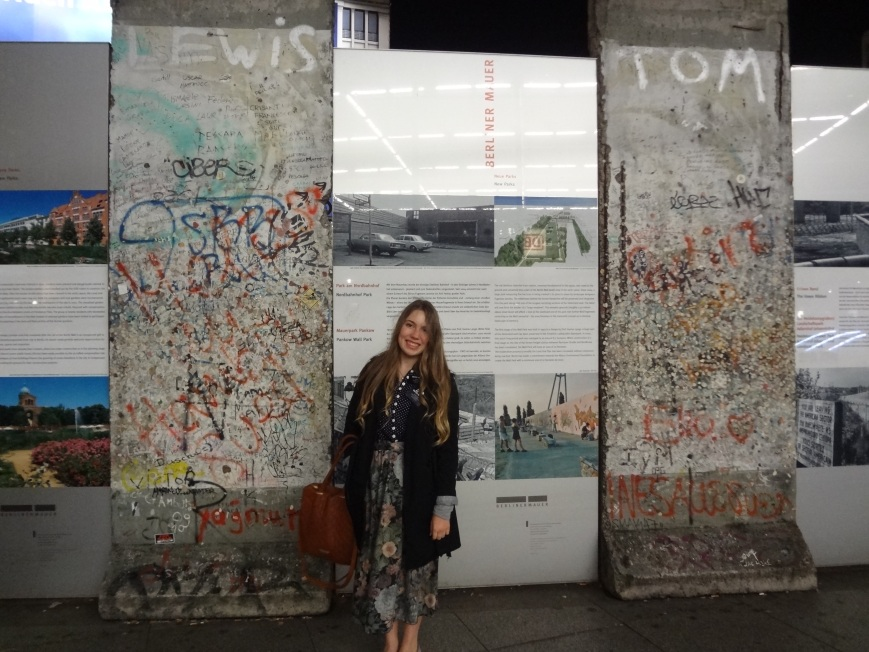berlin wall and berlin pizza.
