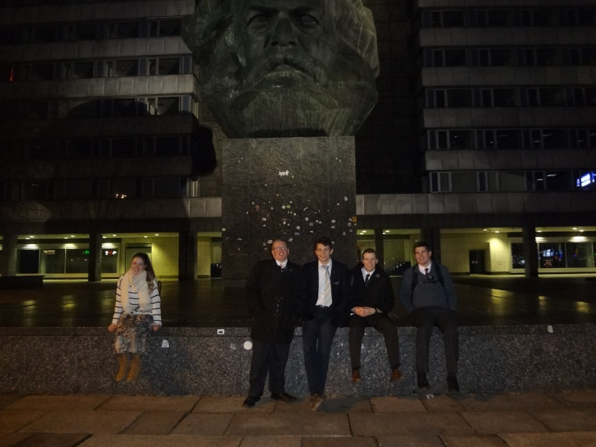 Can't you just picture this giant statue of Karl Marx falling down during the 2nd coming?