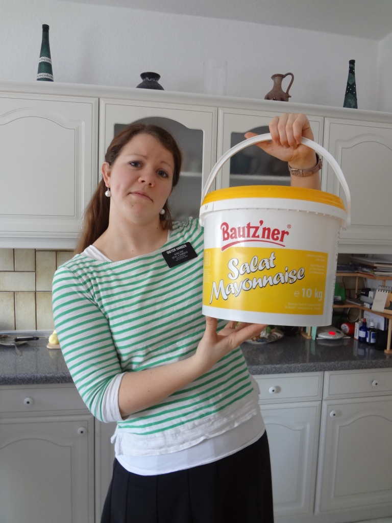 We also found a GIANT tub of Mayo at Fr. G's casa.