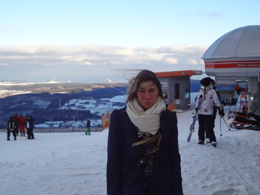 I am sad because we went to a ski resort yet I could not go skiing!