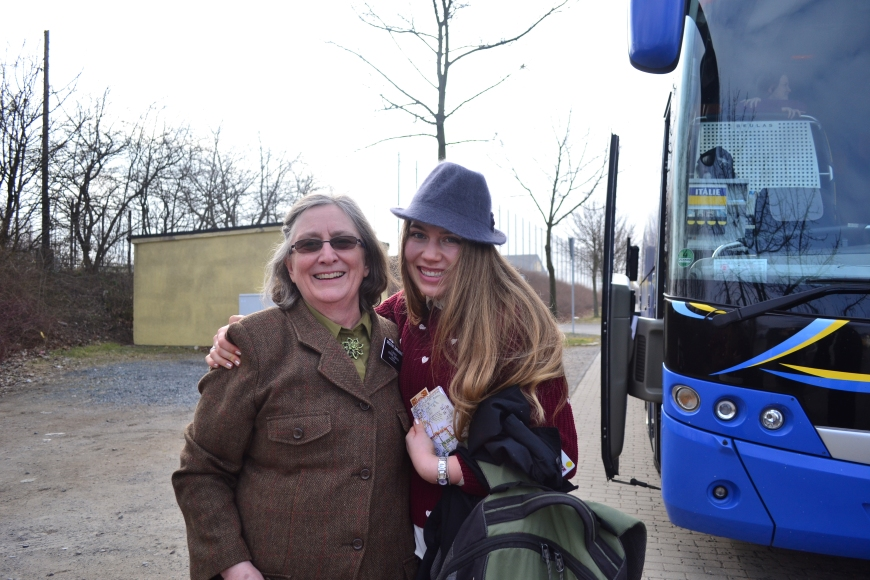 we got to have a few tender moments before she boarded the bus back to Prague