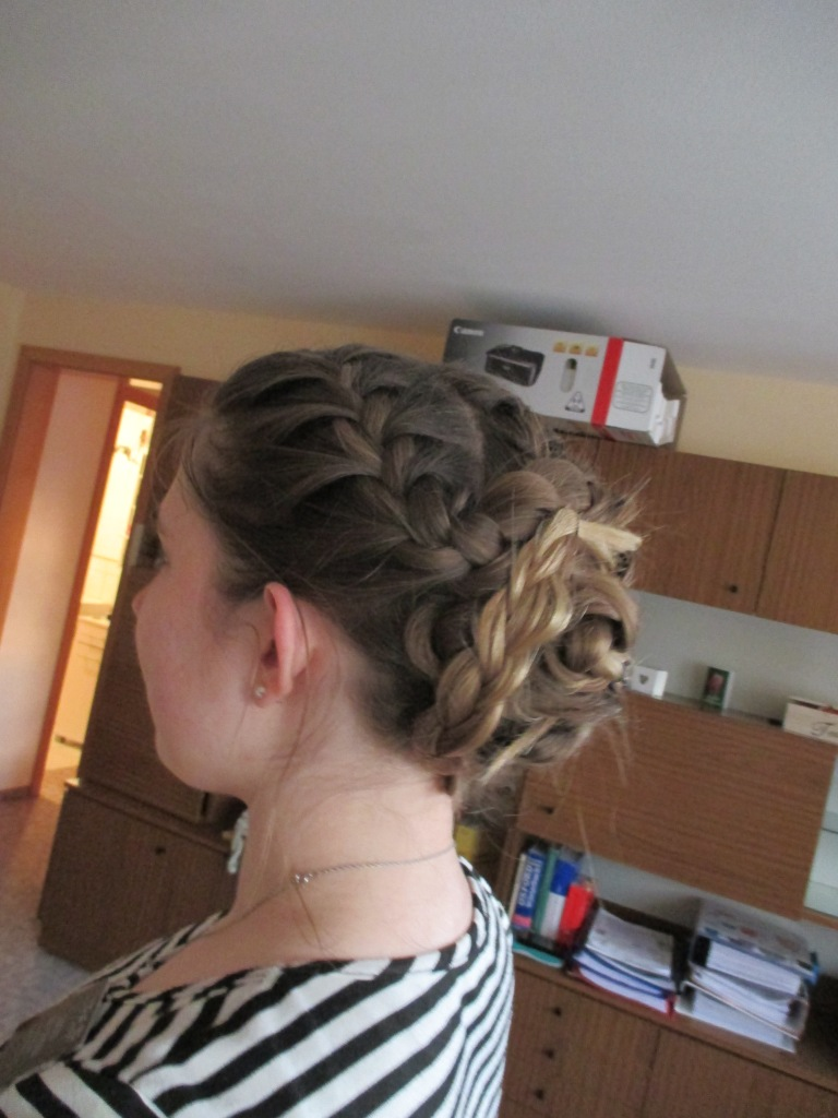 My Schwarzenberg Soul Sister (see other photo) did my hair! I have yet to master the art of braided buns, but I quite love it!