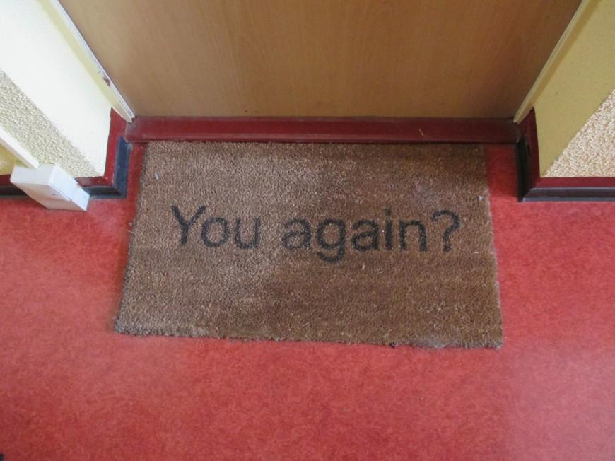 hahaha classic door mat. story of my life.