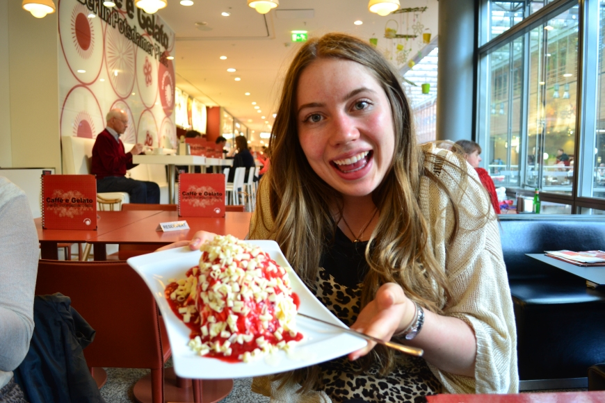 this is how we do ice cream in Europe!
