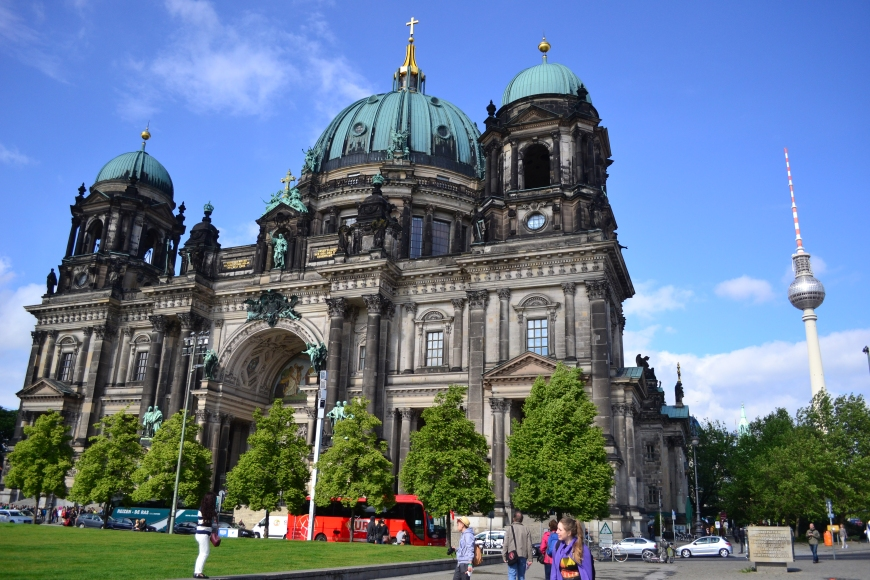 both the berliner dom AND the fernsehturm. those words probably just look to jibberish to you.