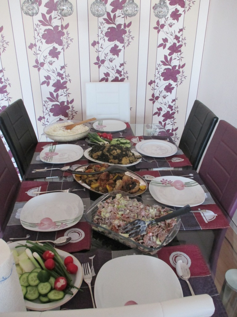 This was the food from the Syrian eating appointment. They went all out!