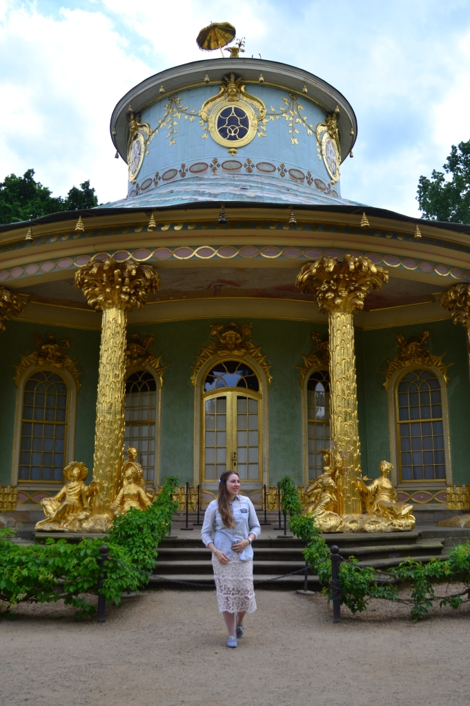 Chinese tea house. my favorite of all the castles in Potsdam!
