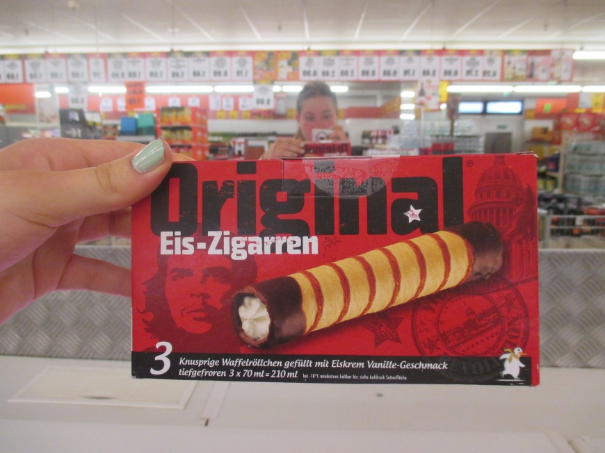 cigar ice cream, so classy Germany.