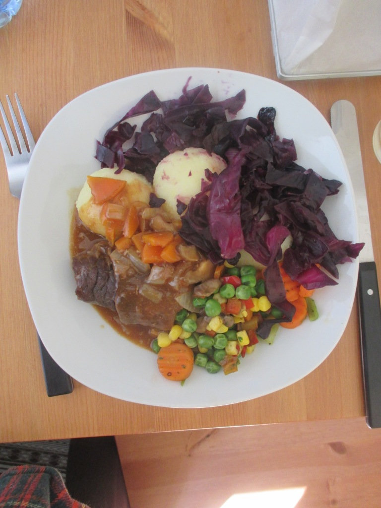 celebrated a year in Germany by making this tasty typical dish all by myself! check me out mom!