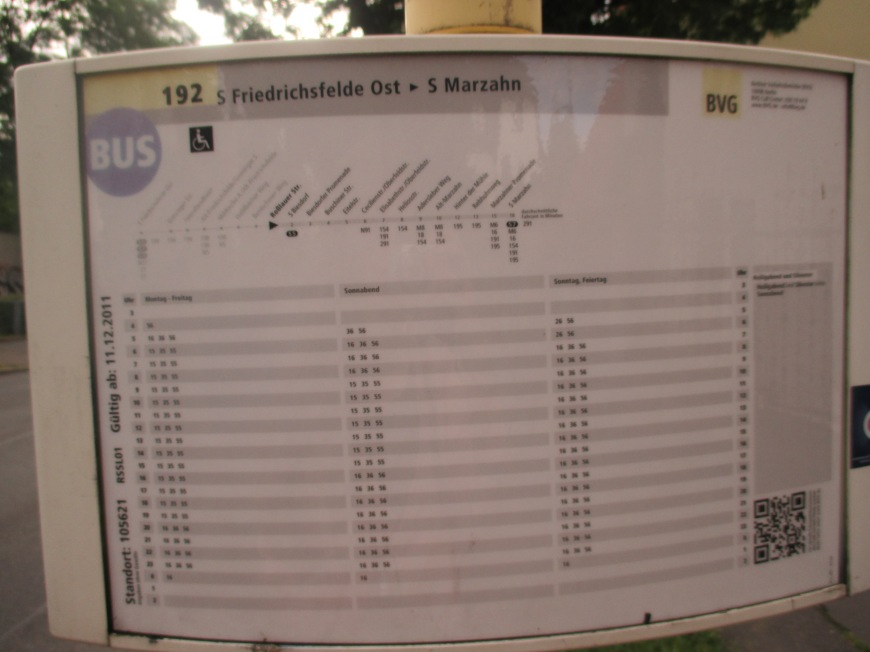 confusing German bus schedules. it took me forever to understand how to read this things. like binary bro!